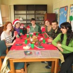 Christmas time?   Ana's students bring a bit of North American culture into their Spanish classroom