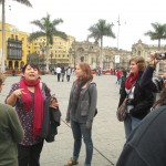 Downtown -- on the Plaza de Armas -- with our study coordinator, Celia