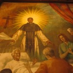 A painting depicting one of St. Martin de Porres' miracles