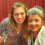 After the show, with her host mother, Maria Teresa