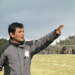 Our guide, Hector, introduces us to the Sacsayhuaman archaeological site