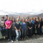 The group -- overlooking the town of San Jeronimo