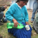 The bottle contains a mixture made of dried calf stomach (rennet), the natural starter for Queso Fresco (fresh cheese)