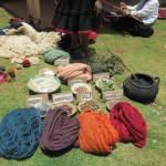 The yarn is dyed using natural plants, minerals, even insects
