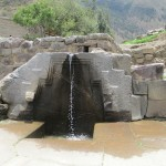 The Inca's bath -- this water has flowed continuously since the 16th century, perhaps much earlier