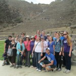 Group photo at foot of Ollantaytambo fortress