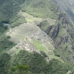 View of Machu Picchu from the top of Huayna Picchu