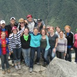 Group photo atop Huayna Picchu