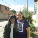 With her host sister, Juana