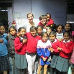 With a group of Compassion children -- Muchas gracias!