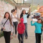 After class -- taking a walk through the city of Oxapampa