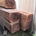 These walnut timbers, stored outside Aspen's room, will be used to build a second story on the family's home