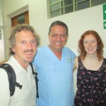 Kristin with Dr. Elera (center) and her director, Jerrell