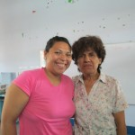 Maritza, or Mari, with the teacher she supports, Manuela
