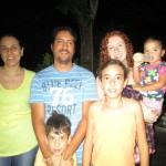 With her host family (from left): Fiorella, Roberto, Ignacio, Valeria and Belen