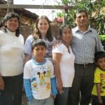 With her entire host family (from left):  Grandma, Caleb, Marcelina, Heber and Mateo