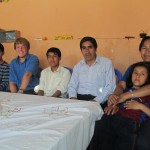 With members of his host family (from left): Herbert, Diego, Dionicio, Wendy and Elizabeth
