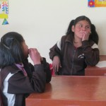 The language barrier between the deaf children and their Spanish-speaking teacher is a formidable obstacle