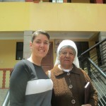 Anna with Sister Susana, the school's director