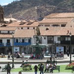 The Plaza de Armas (main plaza) in downtown Cusco