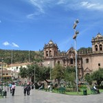 The Plaza de Armas (main plaza) in central Cusco