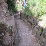 Hiking along the rim of an ancient irrigation canal