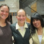Leanna with Bethany (center) and Juana (right) outside the PROSIM office