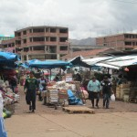 The market near La Fuente Clinic