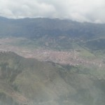 View of the Inca Capital as our plane approaches
