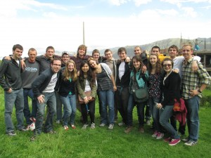 Group photo during orientation in San Sebastian