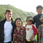 With his host mother, Margarita, twin cousins, Carlos Raul and Carlos Daniel, and brother Jaret (behind)