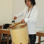 Amaru on the drum