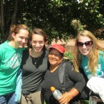 Enjoying the warm sunshine as we prepare to return to Promesa School