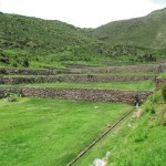 The site consists of a series of terraces, each irrigated with canals