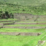 The terraces are impressive, creating flat areas to grow crops