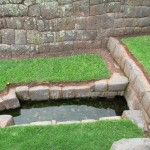 The source of the water that fills the fountain is deep underground -- the spring emerges here