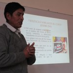 "Cirilo Aguilar introduces his workshop on ""Violence Against Women"""