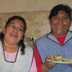 Margarita (left) and Valeria (right) cook lunches for us each day