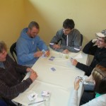 After lunch a group gathers to play Euchre