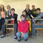 "Members of the ""Selva"" (Rain Forest) Spanish class with their instructor, Yakeline"