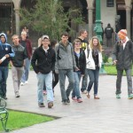 Walking to Cusco's central plaza, the Plaza de Armas