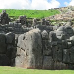 This cornerstone is the largest rock at Sacsayhuaman -- 120 tons!