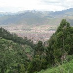 San Sebastian, south of Cusco, comes into sight
