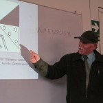 He shows an illustration of an insect over five centures old and how it reveals the Inca people's knowledge of biology