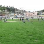 Near the center of the village is a full-size soccer field
