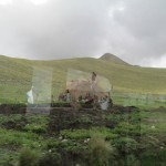 A glimpse out the window of a traditional shepherd's hut