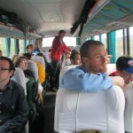 Back on the bus for a short drive to the salt works at Maras