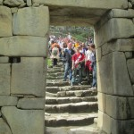 Entering the citadel through the main gate on the Inca Trail