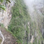 Approaching the Inca Bridge is not for everyone -- the trail is well-built and ample (over a meter wide), but the faint of heart will find it better not to peer over the edge