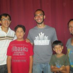 With Ricardo, Adriel, Mathias and Eliana